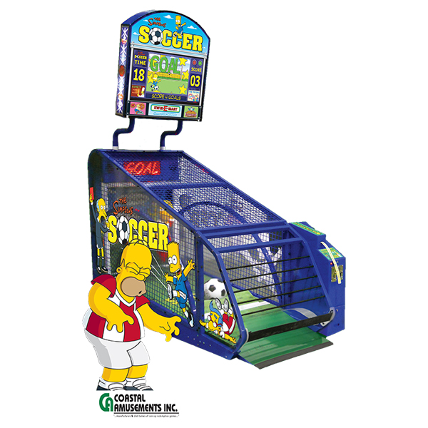 The Simpsons Soccer family fun amusement game picture