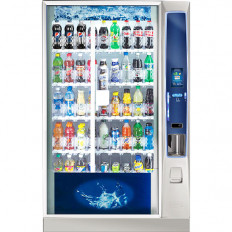 Crane BevMax Media Wide Model Vending Machine Cashless Nutrition Promotions
