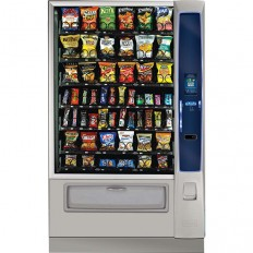 Crane Merchant Media Model 186 Vending Machine  Innovative Automated Retail Design Cashleses Nutritional Data