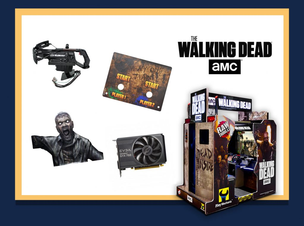 Walking Dead Arcade Parts Package