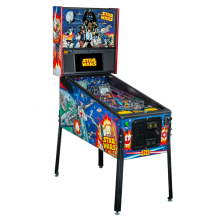 Star Wars Comic Art Pro Pinball Machine Angled Right by Stern Pinball