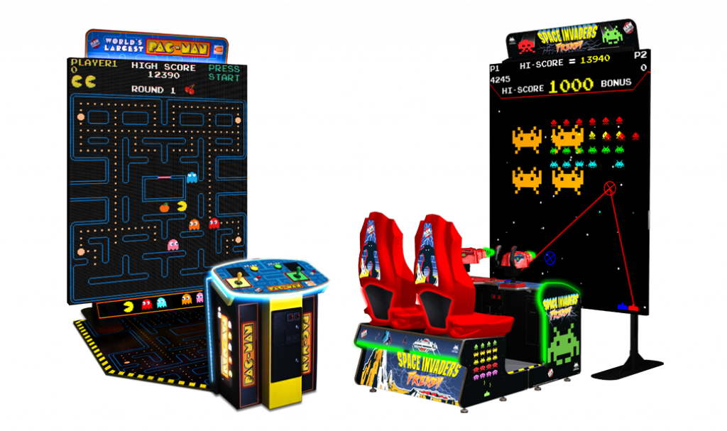 World's Largest Pac-Man and Space Invaders Frenzy