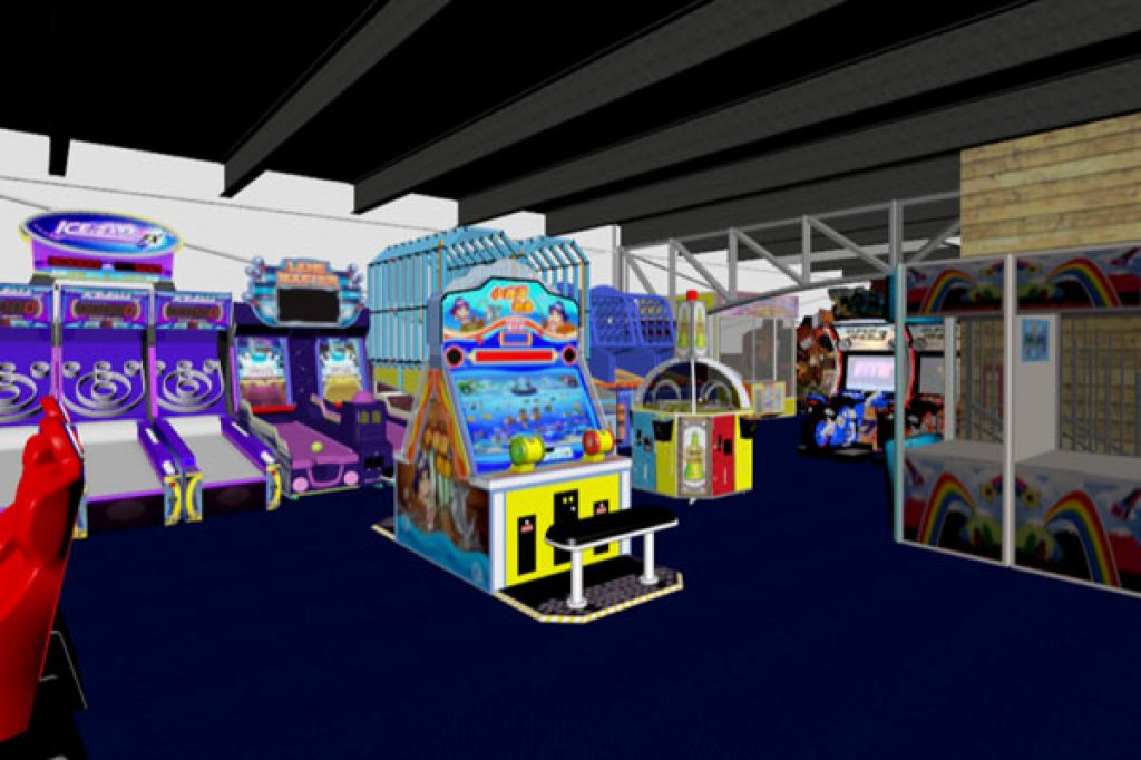 Phase 1 - 3D Render FEC Game Room Image