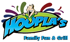 Hoopla's Family Fun and Grill logo
