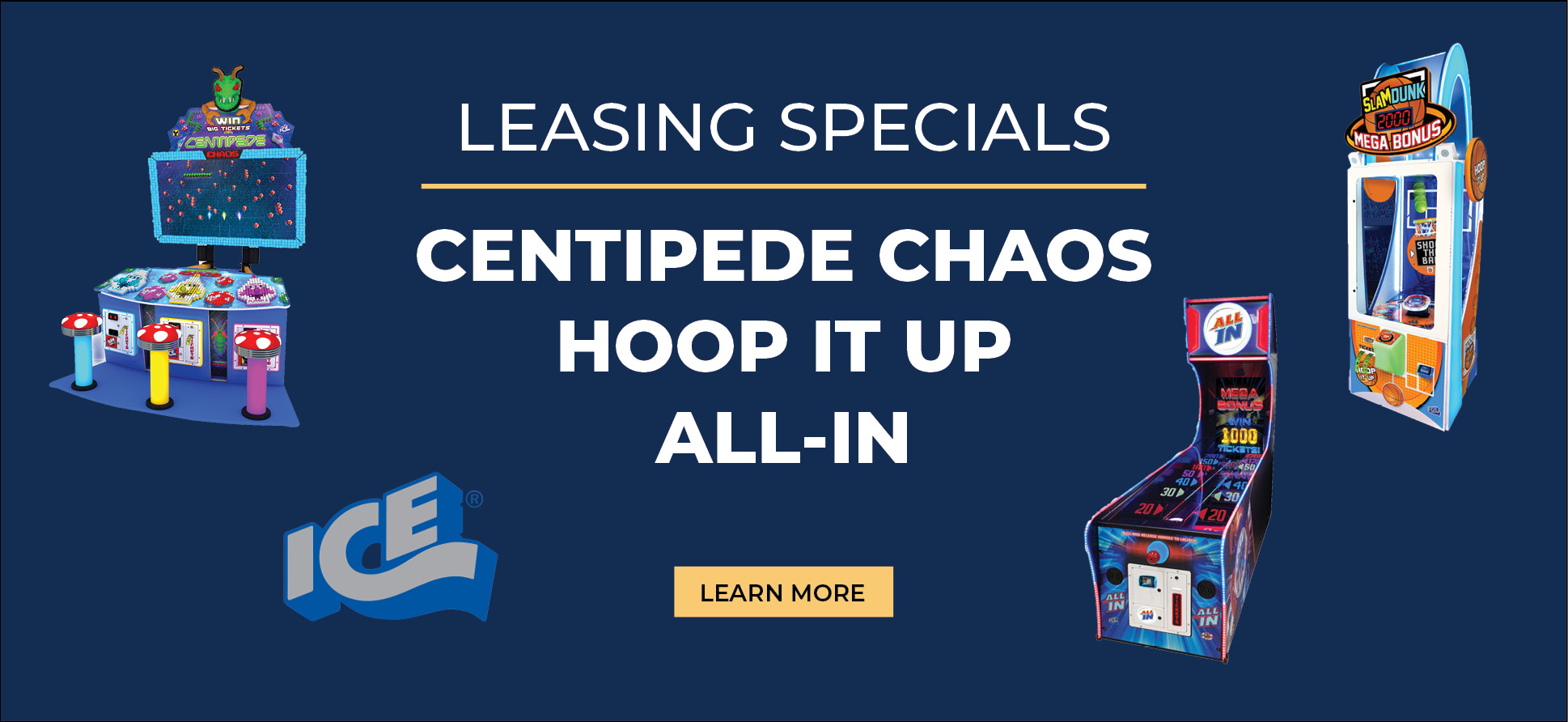 Leasing Specials on ICE Games - May 2021