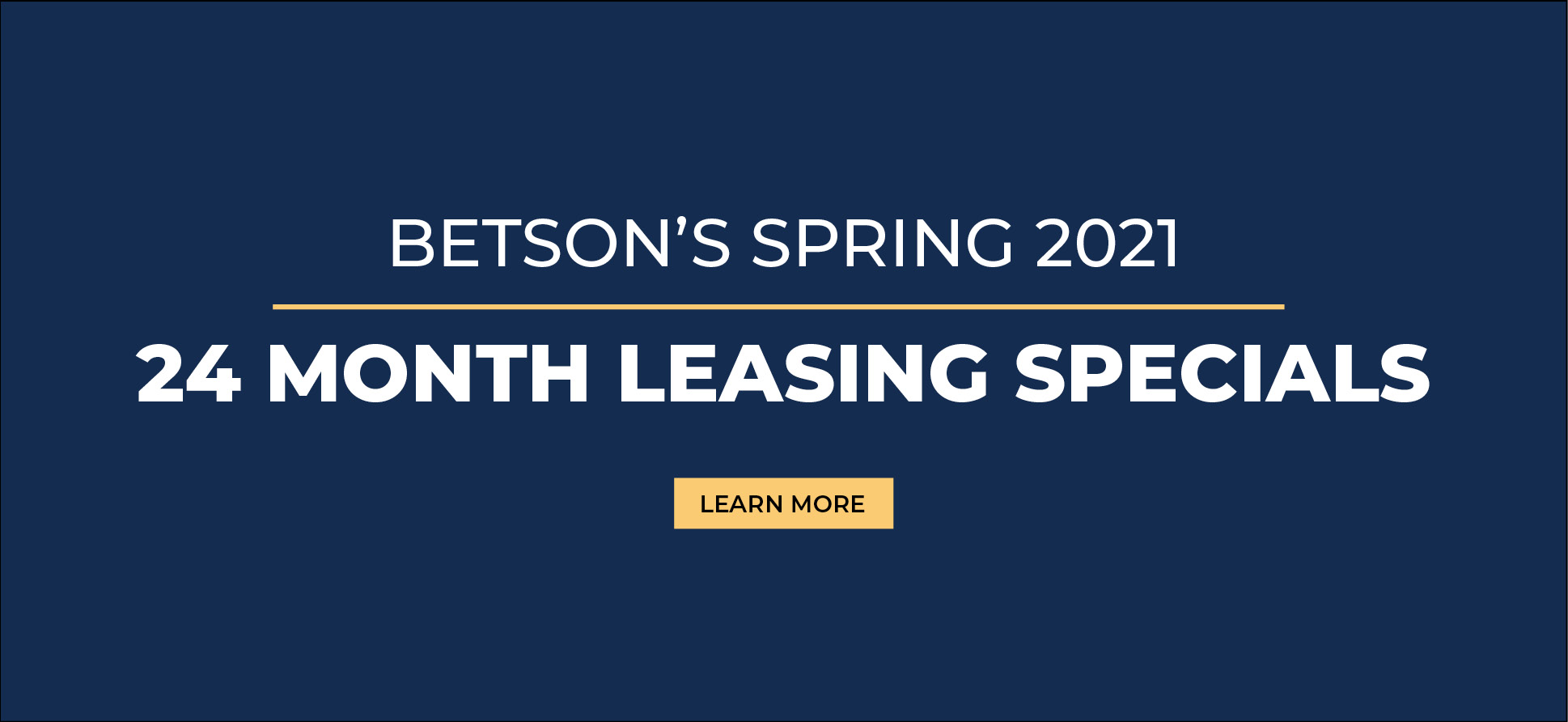 24 Months Leasing Special Banner