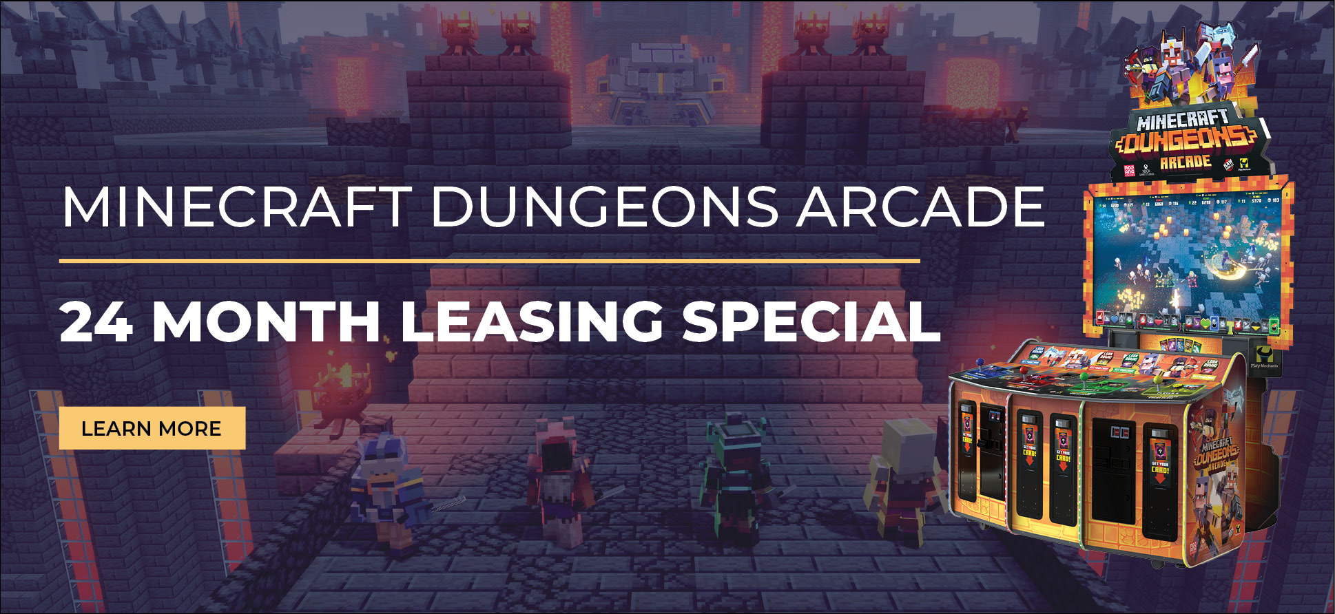 Minecraft Dungeons Arcade Leasing Special